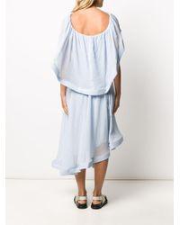 J.W. Anderson ドレープ ドレス Blue