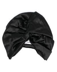 MaryJane Claverol Black Satin Turban