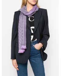 Gucci GGジャカード スカーフ Purple