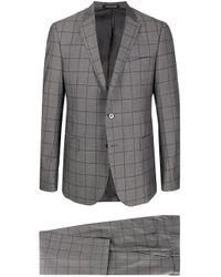メンズ Emporio Armani ジオメトリック スーツ Gray