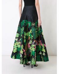 Safari embellished full skirt di Manish Arora in Green