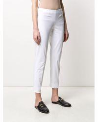 Pantalon droit crop Piazza Sempione en coloris White