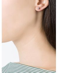 Yvonne Léon Metallic Petit Grey Pearl Stud Earring