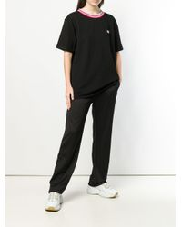 Acne ストライプネック Tシャツ Black