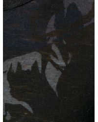 Y's Yohji Yamamoto - Gray Printed Top - Lyst
