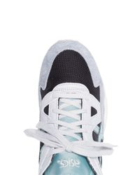 Asics - Gray Blue Gel-lye V Suede Sneakers for Men - Lyst