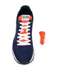 Baskets à empiècements en daim Sun 68 pour homme en coloris Blue