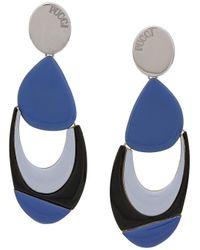 Emilio Pucci Geometric Shaped Earrings Multicolor