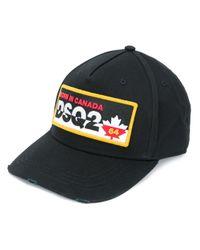 Кепка С Вышитым Логотипом DSquared² для него, цвет: Black