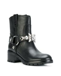 Marc Jacobs - Black Campbell Embellished Boots - Lyst