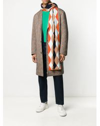 Bufanda con motivo de rombos Pringle of Scotland de hombre de color Orange