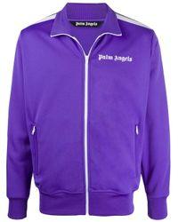 メンズ Palm Angels ロゴ トラックジャケット Purple