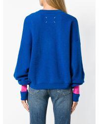Maison Margiela コントラスト セーター Blue