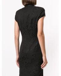 Shanghai Tang Qipao ジャカード ドレス Black