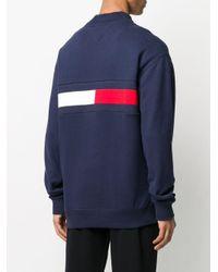 メンズ Tommy Hilfiger ロゴ セーター Blue