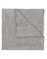 Écharpe à bords francs Etro pour homme en coloris Gray