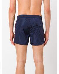 Moncler Blue Side Stripe Swim Shorts for men
