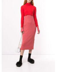 Vestito a coste di Goen.J in Red