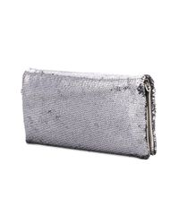 Love Moschino - Metallic Sequined Clutch Bag - Lyst