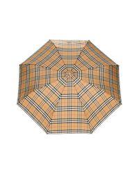 Burberry チェック 折りたたみ傘 Multicolor