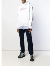 Sweat À Logo Et Capuche Balenciaga pour homme en coloris White