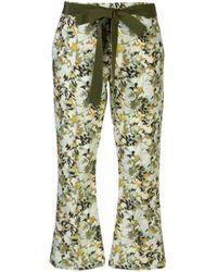 Pantaloni a fiori Fabienne di Silvia Tcherassi in Green