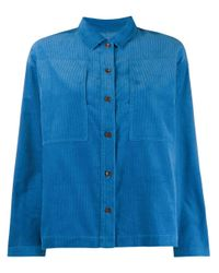 YMC Blue Long Sleeved Corduroy Shirt