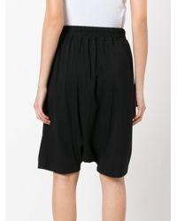 Rick Owens Drkshdw - Black Knee Length Shorts - Lyst
