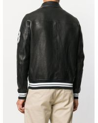 Valentino Black Leather Bomber Jacket for men