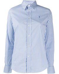 Polo Ralph Lauren スリムフィット ストライプシャツ Blue