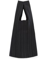 Pleats Please Issey Miyake - Black Pleated Tote Bag - Lyst