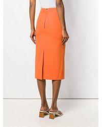 Kwaidan Editions ペンシルスカート Orange