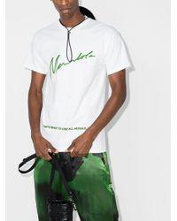 メンズ Mowalola スローガン Tシャツ White