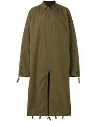 White Mountaineering - Green Oversized Long Coat for Men - Lyst