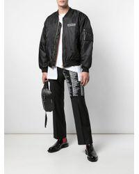メンズ Yang Li ロゴ ボンバージャケット Black