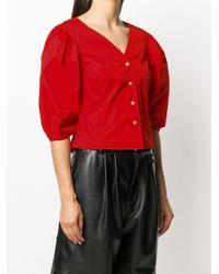 Рубашка С Пышными Рукавами Tory Burch, цвет: Red