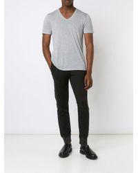 ATM - Gray Lightweight V-neck Jersey T-shirt for Men - Lyst