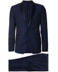 Tuxedo suit Tagliatore pour homme en coloris Blue