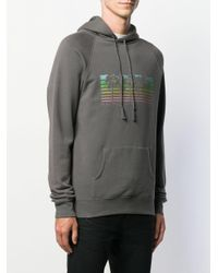 Худи С Рукавами Реглан Saint Laurent для него, цвет: Gray