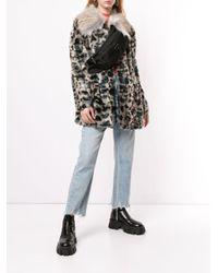 Шуба Из Искусственного Меха С Леопардовым Узором Unreal Fur, цвет: Gray