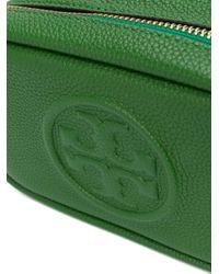 Tory Burch Green Umhängetasche mit Logo-Prägung
