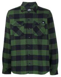 メンズ Dickies Construct チェックシャツ Green
