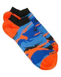 DIESEL   Blue Camouflage Pattern Socks for Men   Lyst