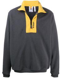 メンズ Adidas ロゴ プルオーバー Gray