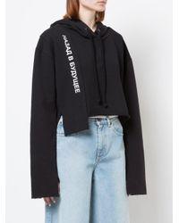 Cropped hoodie di Natasha Zinko in Black