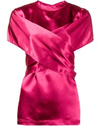 Sies Marjan ラップブラウス Pink