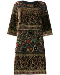 Robe courte en velours Etro en coloris Black