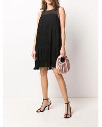 Twin Set ビジューディテール ドレス Black