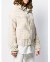 Zadig & Voltaire Natural Aline Zip-up Cardigan