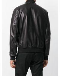 メンズ DSquared² レザー ボンバージャケット Black